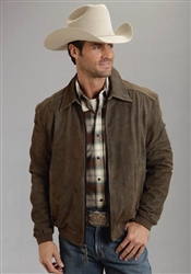 Stetson Distressed Bomber Style Jacket