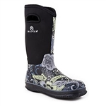 Women's Roper Black and White Rubber Boots