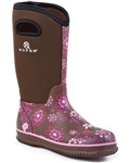 Women's Roper Pink and Brown Rubber Boots