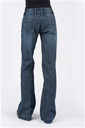 Women's Stetson Trouser Fit Dark Wash Jean