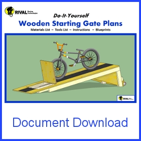 Wooden BMX Starting Gate