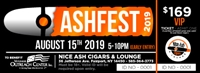 VIP Ash Fest Ticket - **Include Shirt Size in Comment Section** 1 Hour Early Entry, Access to Private Lounge, 20 Cigars, Pig Roast, Beverage Tickets, Commerative Mug, AshFest T-Shirt, Swag Bag, and Hors d'Oeuvres