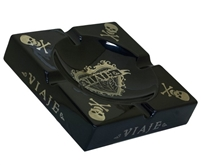 Viaje Skull and Bones Black and Silver Ashtray