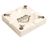 Viaje Skull and Bones White and Silver Ashtray