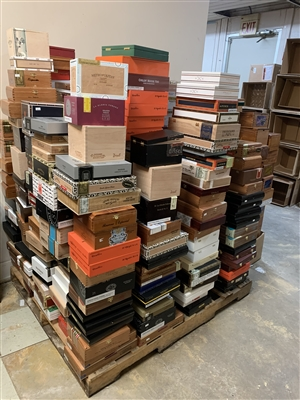 25 Empty Wooden Cigar Boxes