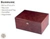 100 Count Surrure Humidor - Include Lock and Key, Humidifier, Hygrometer, and Tray. 13��W x 9�D x 6�H
