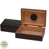 "10 Count Traveler Humidor - Mahogany with Humidifier 8 3/4""W x 5 11/16""D x 3 3/16""H"