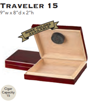 15 Count Travel Humidor - Cherry