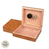 20 Count Burlwood Humidor with Humidifier and Brass Hinges