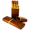 Walnut 3 Cigar Churchill Travel Case