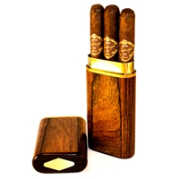 Walnut 3 Cigar Presidente Travel Case