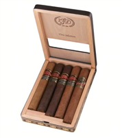 La Flor Dominicana Toro Sampler (1 of Each: Double Ligero 654, Double Ligero Maduro 654, Ligero 400, Ligero Oscuro 400, and Air Bender Guererro)