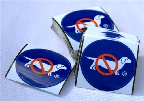 No Dog Logo Sticker