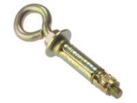 Masonry Anchor - Eye Bolt - Zinc Yellow Passivated - Bag