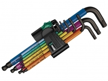 Wera 950 SPKL/9 SM N SB Multicolour L-Key Set - BlackLaser