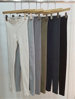 (Back-Order; 2nd Reorder) F/W Basic Leggings (Ivory/Gray/Dove/ Khaki/Charcoal/Boccasi/Black) (will ship within 1~2 weeks)