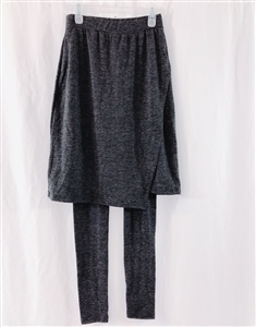 (Event; Final Sale) Charcoal Kimo Skirt Leggings 119