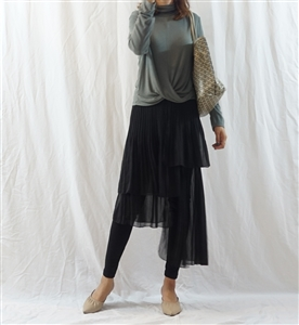 Luxury Unbalanced Chiffon Skirt Leggings (will ship within 1~2 weeks)