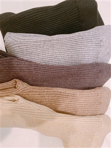 Wool Cashmere Leggings (Oatmeal/Beige/GrayBrown/Gray/Black) (will ship within 1~2 weeks)