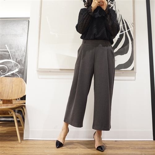 Gray Luxe Formal Wide Pants