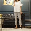 (Best; 2nd Reorder) Gray Stripe String Pants (S)