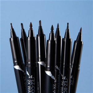 (1+1) New Pen Shape Updated [PASSIONCAT] 2X WaterProof Pen Liner (Pen/Brush/EZ-Bong/EZ-Slant/EZ-Cone) (1:Black/2:Brown)