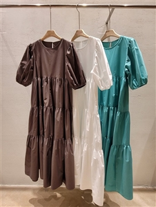 Tiered Dress (Mint/Ivory/Charcoal) (will ship within 1~2 weeks)