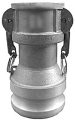 "3"" FEMALE COUPLER X 4"" MALE ADAPTER - PART DA - 316SS"