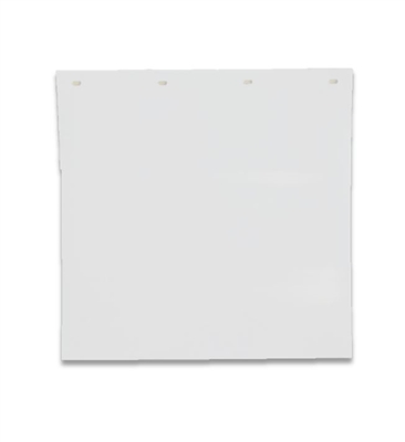 "24"" X 24"" WHITE PLASTIC MUD FLAP"