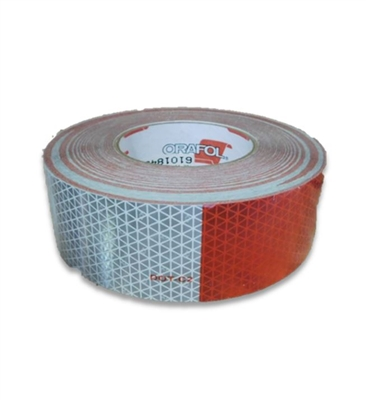 "2"" WHITE AND RED REFLECTIVE TAPE"