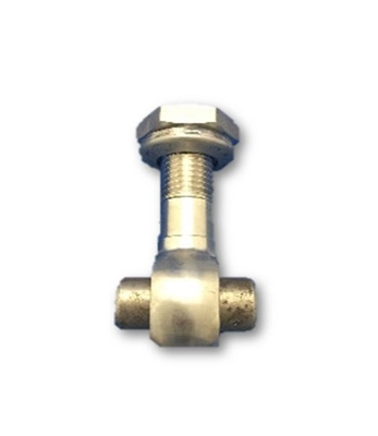 58MM SWINGBOLT ASSEMBLY WITH HEX NUT - 16MM PIVOT PIN - SS