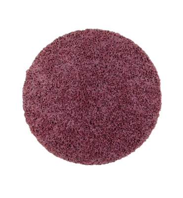 "4.5"" MAROON HOOK AND LOOP SANDING DISC - MEDIUM AL OXIDE - 3M PRODUCT"