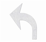 "PR-TH-3518 - Preformed Thermoplastic Turn Arrow Standard Reversible Symbol - 8' x 6'1"" - 90 MIL White - (Qty 2)"