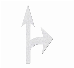 "PR-TH-3528 - Preformed Thermoplastic Combo Arrow Standard Right Symbol - 12'9"" x 7' - 90 MIL White - (Qty 1)"