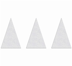 "PR-TH-3541 - Preformed Thermoplastic Shark Teeth Yield Markings Symbol - 12"" x 18"" - 90 MIL White - (Qty 10)"