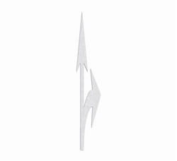 "PR-TH-3562 - Preformed Thermoplastic Combo Arrow Elongated Right Symbol - 20' x 3'7"" - 125 MIL White - (Qty 1)"