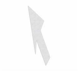 "PR-TH-3563 - Preformed Thermoplastic Lane Drop Arrow Reversible Symbol - 18' x 5'6"" - 125 MIL White - (Qty 1)"