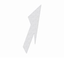 "PR-TH-3565 - Preformed Thermoplastic Lane Drop Arrow Right Symbol - 18' x 5'6"" - 125 MIL White - (Qty 1)"