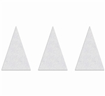 "PR-TH-3567 - Preformed Thermoplastic Shark Teeth Yield Markings - 12"" x 18"" - 125 MIL White - (Qty 10)"