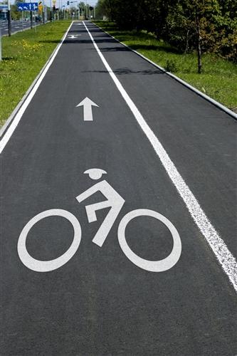 Preformed Thermoplastic Bike Man Symbol 8 X 6 90 Mil Pr Th 3572