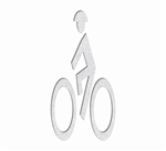 PR-TH-3574 - Preformed Thermoplastic Bike Man Symbol 4' x 2' - 90 MIL White (Qty 5)