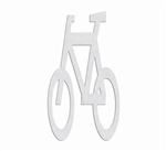 "PR-TH-3575 - Preformed Thermoplastic Bicycle Only Symbol 5'8"" x 3'4"" - 90 MIL White (Qty 2) - MUTCD/FHWA"