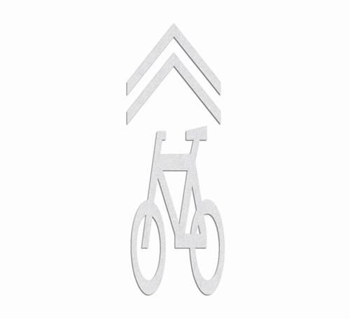 Preformed Thermoplastic Bicycle Shared Lane Symbol 94 X 34 Pr