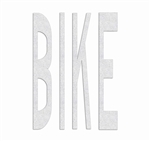 "PR-TH-3578 - Preformed Thermoplastic ""BIKE"" Legend 4' x 2'6"" - 90 MIL White (Qty 4)"