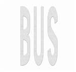 PR-TH-3607 - Preformed Thermoplastic Legend - 'BUS' - 8' x 90 MIL White - (Qty 1)