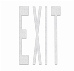 PR-TH-3608 - Preformed Thermoplastic Legend - 'EXIT' - 8' x 90 MIL White - (Qty 1)