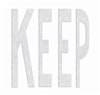PR-TH-3610 - Preformed Thermoplastic Legend - 'KEEP' - 8' x 90 MIL White - (Qty 1)