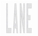 PR-TH-3611 - Preformed Thermoplastic Legend - 'LANE' - 8' x 90 MIL White - (Qty 1)