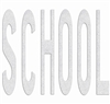 PR-TH-3621 - Preformed Thermoplastic Legend - 'SCHOOL' - 10' x 90 MIL White - (Qty 1)