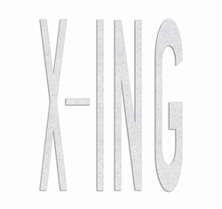 PR-TH-3627 - Preformed Thermoplastic Legend - 'X-ING' - 8' x 90 MIL White - (Qty 1)